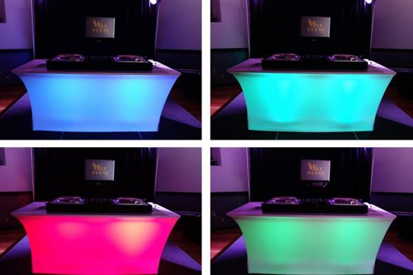 Lighted Spandex Table Cover
