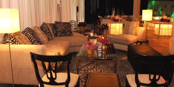 A nice sitting area at one of EBE Talent's Planned Bar or Bat Mitzvahs.