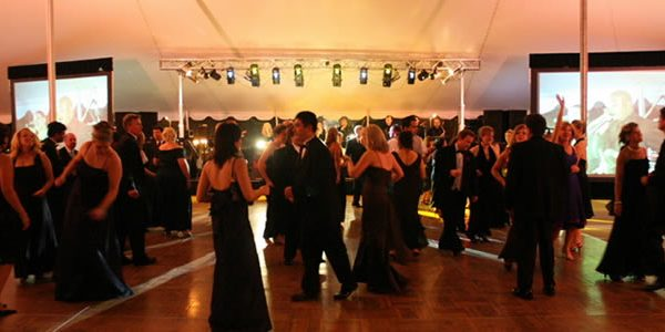 Dancing at a corporate event in Philadelphia. EBE Talent plans classy corporate events for companies of all sizes.