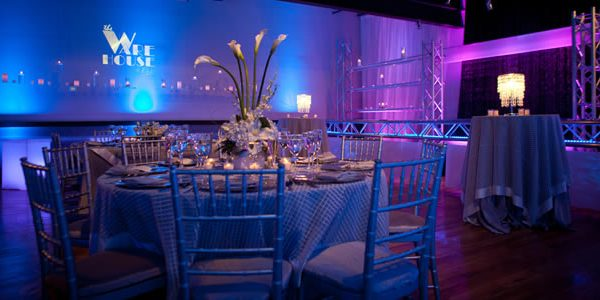 A blue and purple colored wedding theme designed by EBE Talent's expert wedding planners.